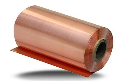 1pcs 99.9% Pure Copper Cu Metal Sheet Foil 0.1 x 200 x 5000MM
