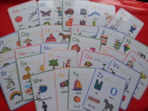 Alfabeto Schede Flash-più foto su ogni Scheda-Risorsa Insegnamento-KS1