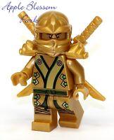 Lego Ninjago Green & Gold Ninja Minifig Lloyd Minifigure Katana Swords 70505