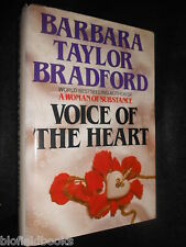 SIGNED; BARBARA TAYLOR BRADFORD - Voice of the Heart - 1983-1st, Hardcover Novel