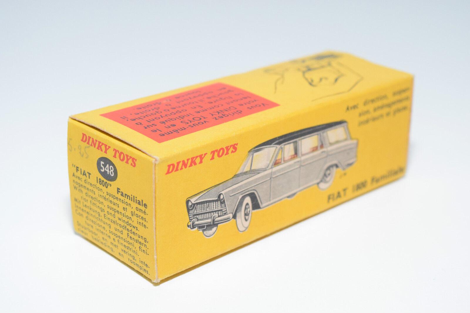 DINKY TOYS 548 FIAT 1800 FAMILIALE BREAK ORIGINAL EMPTY BOX NEAR MINT