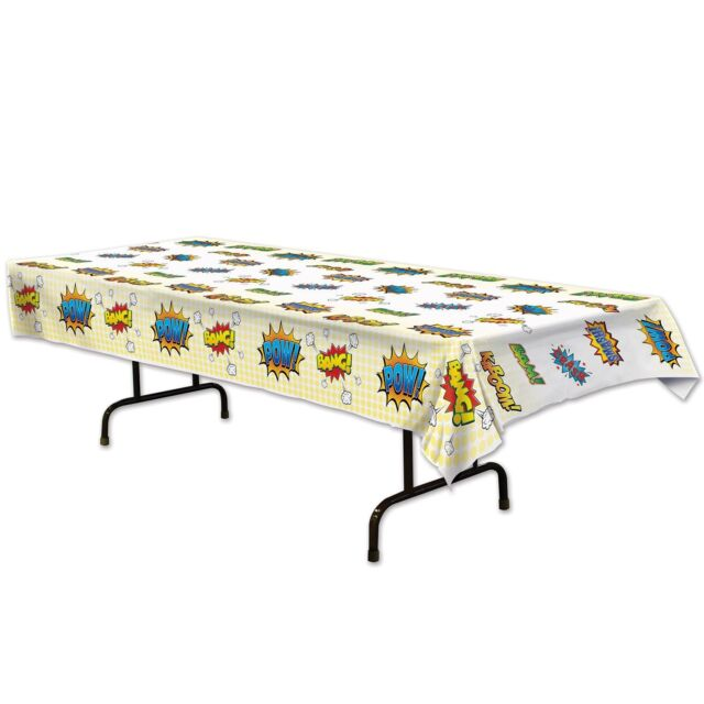 """SUPER HERO Comic Book Party Decoration HERO Table Cover 54"""" x 108"""""""