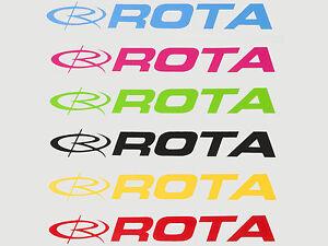 Copieux Rota Autocollants Stickers Officiel Roues Différentes Tailles Et Couleurs Disponibles-afficher Le Titre D'origine Belle En Couleur