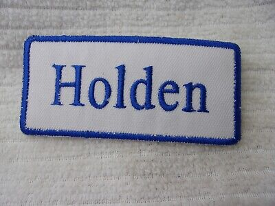 HOLDEN   NEW COMPANY EMBROIDERED  IRON SEW ON NAME PATCH TAG