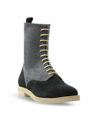 MM6 Maison Martin Margiela Women/'s Suede-Panel Flat Boots 5.5 6 6.5 7 7.5 8.5