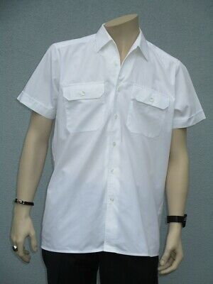 Esercito Tedesco Camicia Servizio Bw Per Il Tempo Libero Camicia, Business Uniform Camicia A Maniche Corte Bianco-mostra Il Titolo Originale Lustro Incantevole