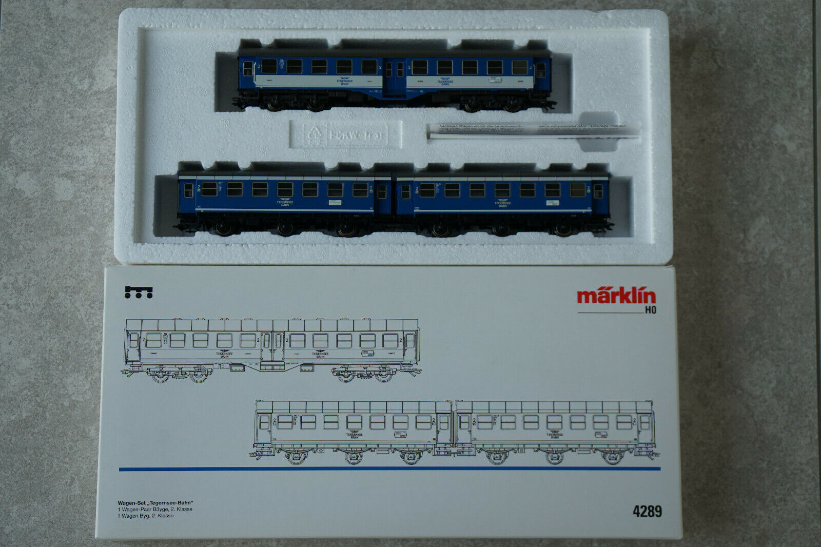 Märklin HO Wagen Set Set Set Tegernsee Bahn. 4289. Car Set.    Moderne und stilvolle Mode  b1387e