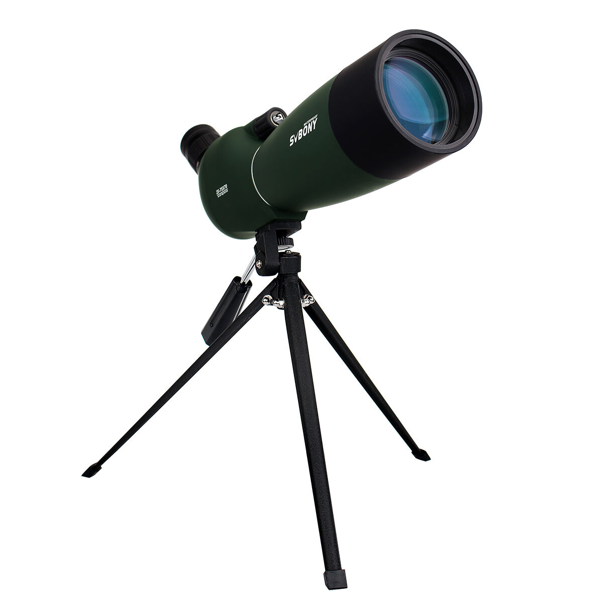 Svbony SV28 25-75x70mm Telescopio Terrestre Zoom Angular Impermeable Funda + Trípode