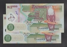 ZAMBIA 1000 Kwacha Banknote World Polymer Money Currency Pick p44d 2005 Eagle