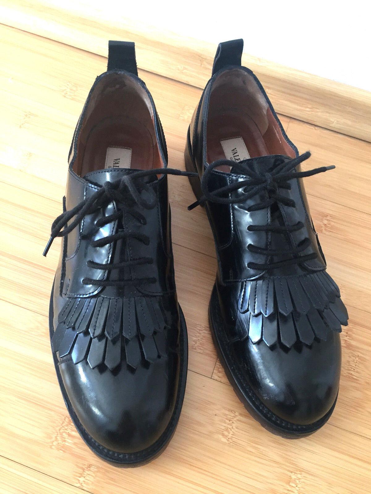 � Orig. Valentino Rockstud Schuhe Lack Lack Lack schwarz Gr. 38 TOP  rare � e16e27
