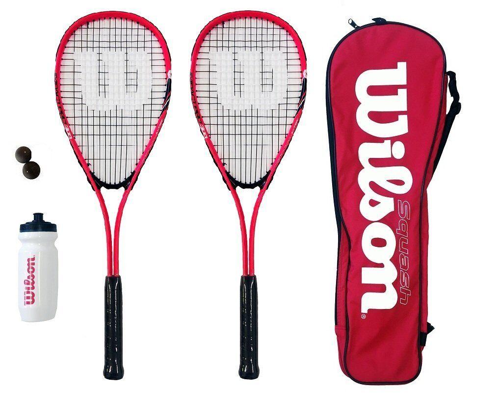 Wilson Hyper Team 500 - Set composto composto composto da racchetta da squash con palline e (D3g) 03f5f2