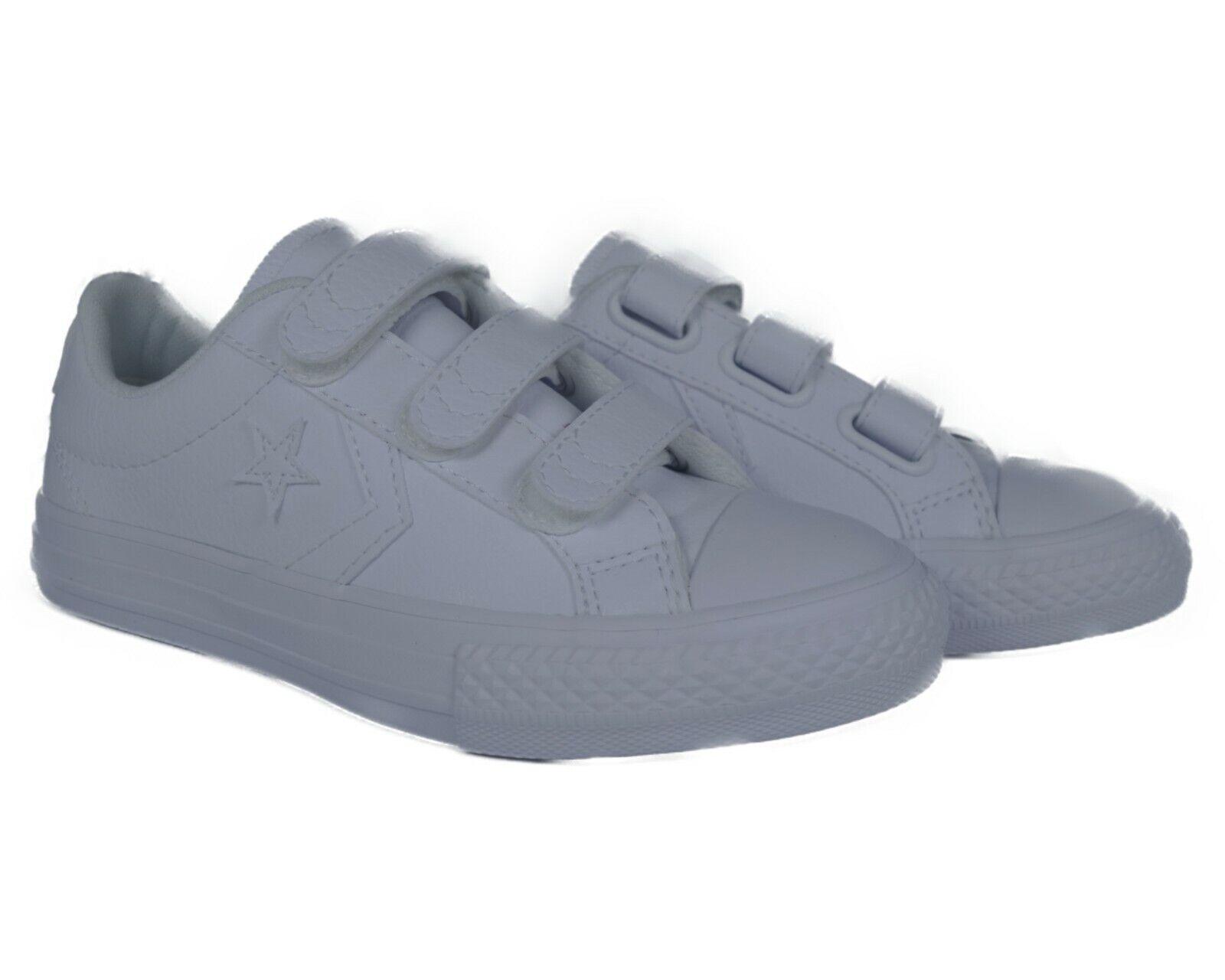 651830C Converse Star Player EV 3V Ox (White) Preschool Shoes Size 1