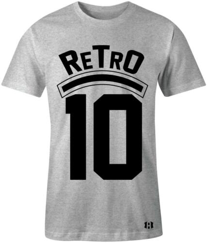 "/""Retro 10/"" T-shirt to Match Retro /""Cement/"" 10/'s Light Smoke Grey"
