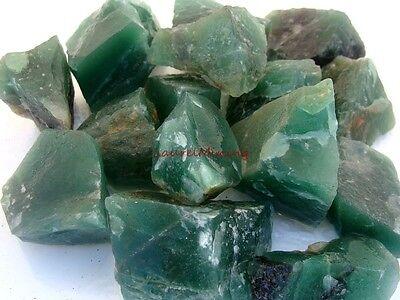 GREEN AMETHYST Gemstone Rough - 1 Lb Lot - GEM PRASIOLITE - Great Dark Color