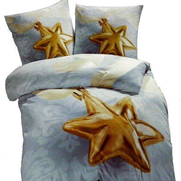Emozioni biancheria da letto letto letto X-MAS STAR STELLA BLU IN MICROFIBRA 135x200 cm Foto Motivo 3d6fe1