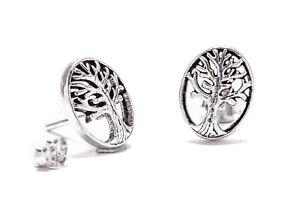 Yggdrasil-vida-arbol-pendientes-925er-plata-Gothic-joyas-nuevo