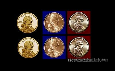 2014 P+D Native American Sacagawea Set ~ PD in Original Mint Wrap  No S Proof