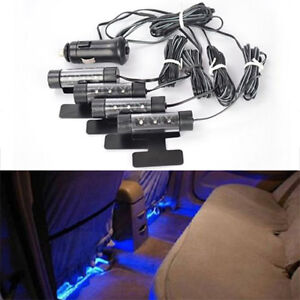 3 led lampe ampoule feux auto voiture int rieur bleu. Black Bedroom Furniture Sets. Home Design Ideas
