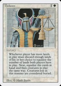 1x Balance Revised 3rd MTG Magic MP