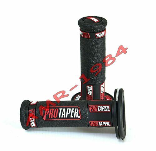 COPPIA MANOPOLE  PRO-TAPER  TRI-DENSITY  NERO RED 351418R Ø 22-24  Lung.120 @