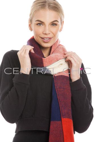 uk vendeur Femmes grande écharpe pashmina tartan vérifier étole châle jeter