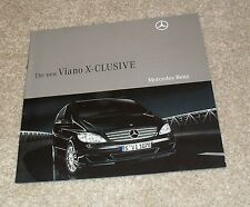 Mercedes Viano X-Clusive Brochure 2008 - Exclusive 3.0 CDI & 3.5
