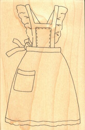 Baker/'s Apron Wood Mounted Rubber Stamp IMPRESSION OBSESSION F9584 New