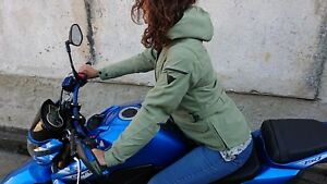 Motorcycle-Jacket-Fabric-Elysee-D1-Dainese-D-Dry-Lady-Green-Oil-size-42-new