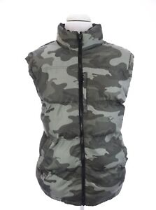 Faded-Glory-Mens-Camo-Puffer-Full-Zip-Up-Vest-Army-Green-Sz-XL-46-48
