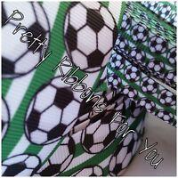 Soccer 1.5 Wide Grosgrain Ribbon 5 Yards Listing