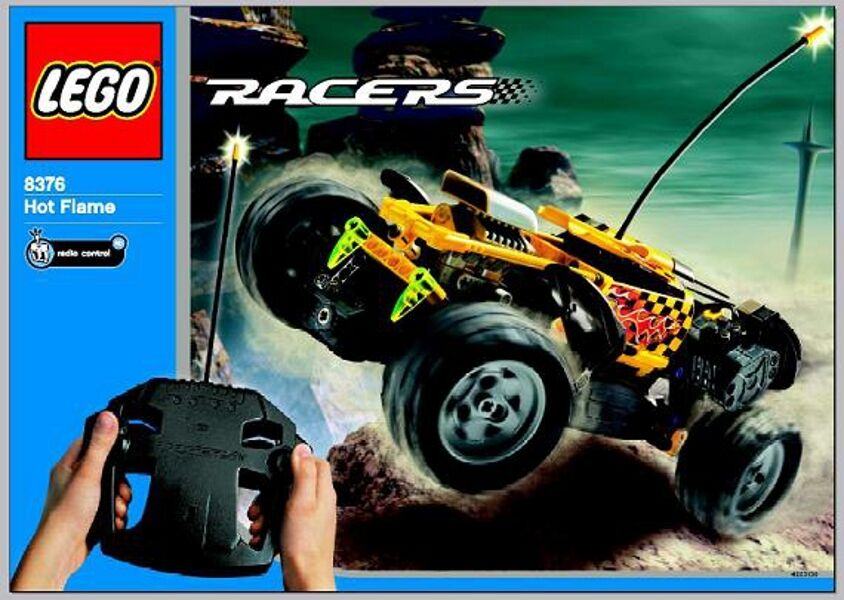 LEGO 8376 - Racers  Radio Control  Hot Flame Flame Flame 2 in 1 - NO BOX 762a15