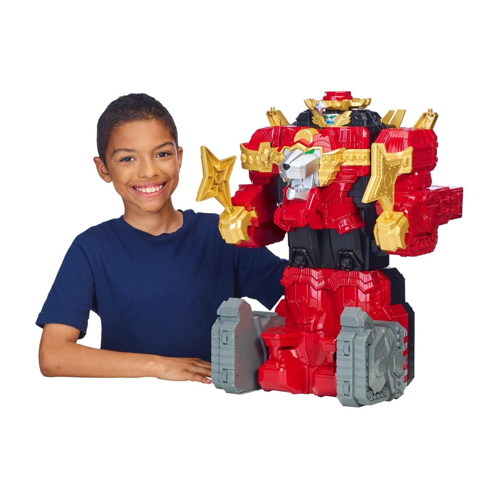 Power Rangers Ninja Steel Lion Fire Fortress Zord Kids Play Christmas Gift NEW