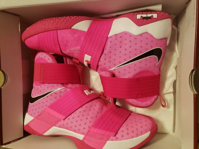 new product d5e57 73e40 Nike LeBron Soldier 10 Think Pink Kay Yow Breast Cancer Awareness Size 13