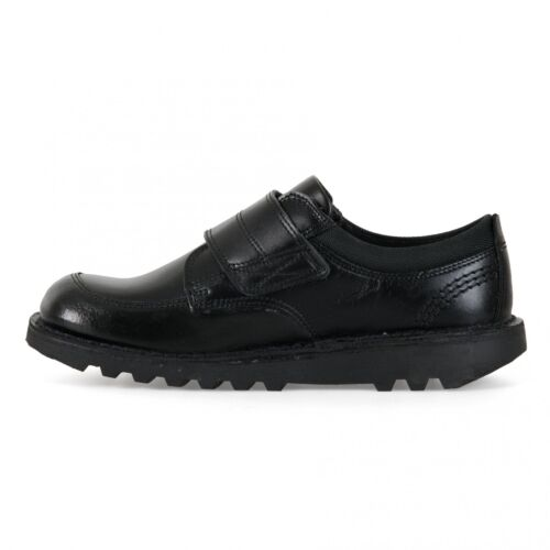 Kickers Juniors Scuff Lo Leather Shoes Black
