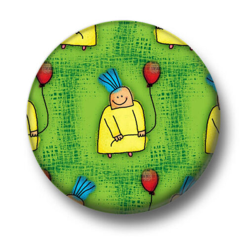 Balloon Boy 1 Inch 25mm Pin Button Badge Balloons Cartoon Cute Birthday Sketch