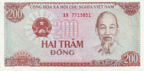 1987 UNC Vietnam Viet Nam 200 Dong P-100 Lot 10 PCS