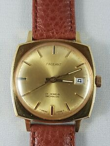 Pageant-vintage-Mans-Watch-working-nice-collector-watch