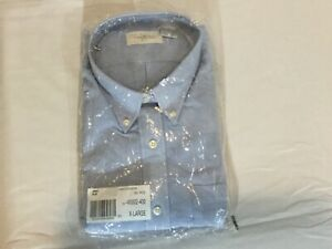 Van-Heusen-for-Her-Blue-Oxford-Wrinkle-Free-Shirt-X-Large-16-18-Long-Sleeve