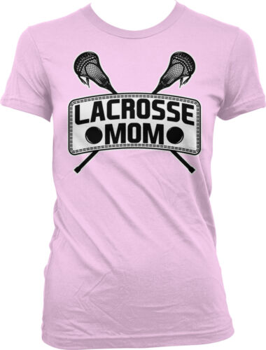 Lacrosse Mom Sticks Mommy Mama Sports Mother/'s Day Juniors T-shirt