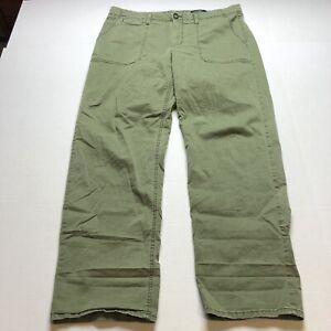 Banana-Republic-Green-Boyfriend-Slouchy-Fit-Chino-Pants-Sz-14L-14-Long-A1245