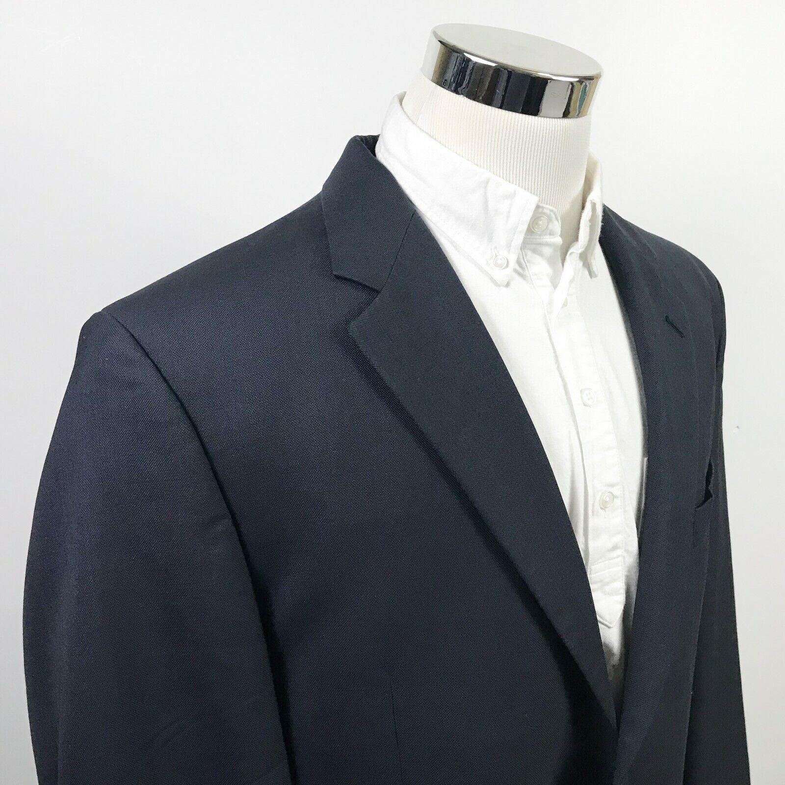 LRL Ralph Lauren 46L Sport Coat Midnight bluee 100% Wool Two Button