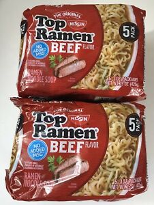 Best Instant Ramen 2021 Lot 10 Packs Nissin Top Ramen Noodles Beef 3/12/2021 | eBay