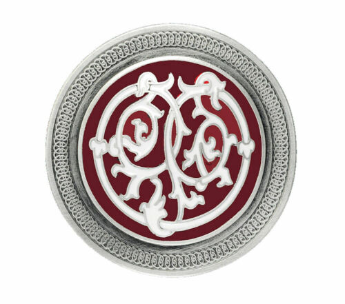 Celtic Stems Belt Buckle Red