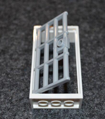 NEW Lego Parts 2x4x6 White Window Frame w// LG Prison Bar Door Bricks 1