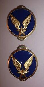 Boutons-de-cols-Collet-Veste-Vareuse-ALAT-Aviation-legere-de-l-039-Armee-de-terre