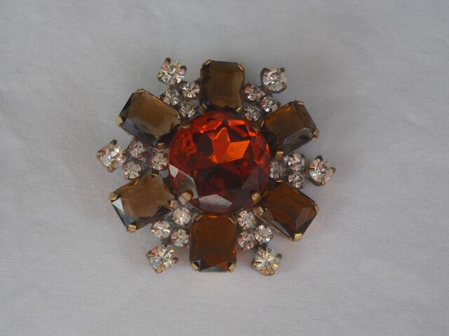 Czech Glass Rhinestones Button, Dazzle & Bling! Item 202
