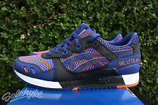 ASICS GEL LYTE III 3 SZ 9.5 BLUE PRINT CHAMELEON PACK ORANGE WHITE HN6J2 5109