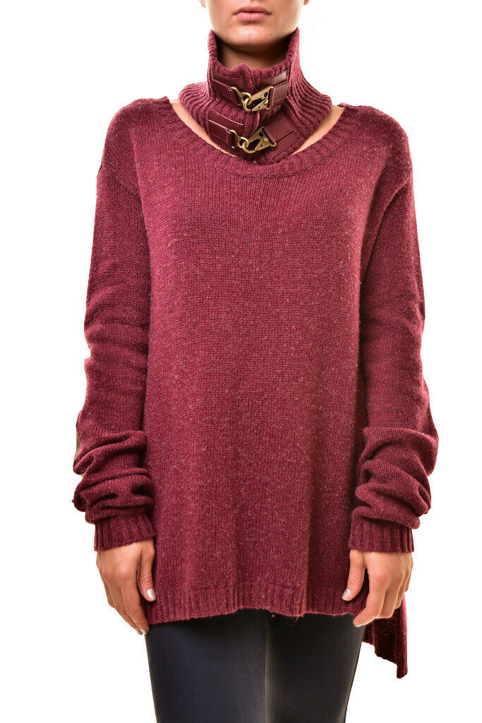 One Teaspoon damen Long Sleeve Knitted Sweater Bordeaux lila Größe S