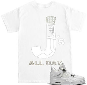 02cec37d771 Js ALL DAY PURE MONEY 4s T Shirt to match with Air Jordan 4 PURE ...
