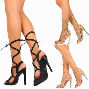 Exotic Wear Metallic Lace Up Stiletto